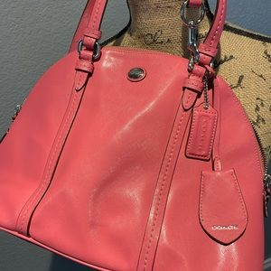 Coach Peyton F25671 Saffiano Leather Domed Satchel